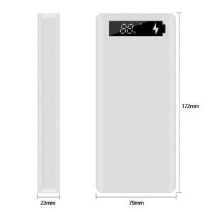 Image 2 - 5v dupla usb 8*18650 caso do banco de potência com tela de exibição digital carregador do telefone móvel diy escudo 18650 bateria titular caixa de carregamento