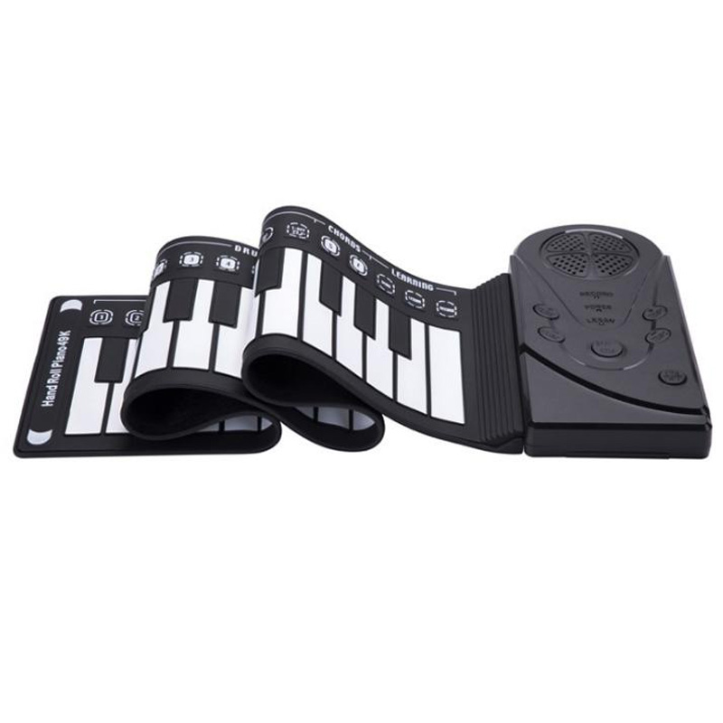 49-Key Folding Hand Roll Piano Silicone Portable Hand Roll Piano Children's Beginner Electronic Piano