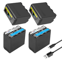 8800MAh Đầu Vào USB Sạc NP F970 NPF970 F960 Pin Có Đèn LED Hiển Thị Sony F960 F550 F570 F750 F770 MC1500C / Video