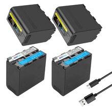 Batteria del NP F970 NPF970 F960 della carica dellinmissione di USB 8800mAh con lindicatore del LED per Sony F960 F550 F570 F750 F770 MC1500C/luce Video