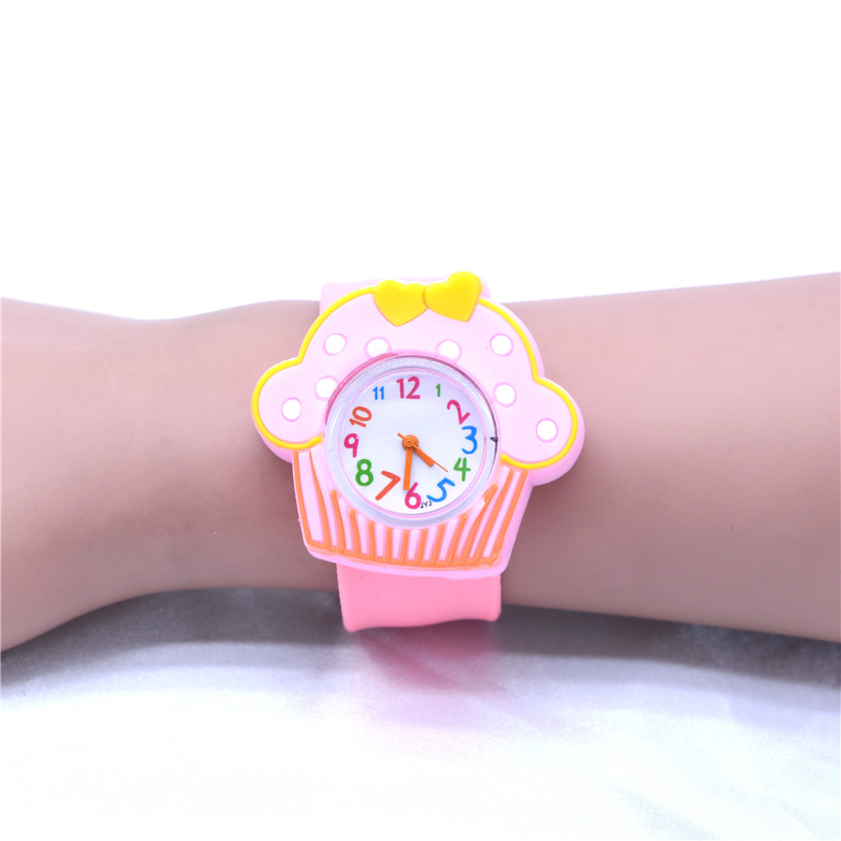 Girls Child Watches Kids Watch Pink Silicone Clock For Girl Toy Belt Quartz Watches