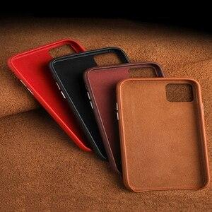 Image 5 - Luksusowy Vintage miękki skórzany futerał dla iPhone 7 8 Plus X XR XS MAX metalowy przycisk głośności dla iPhone 11 11Pro MAX obudowa tylna
