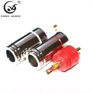 Image 5 - 4 pezzi 8 pezzi 16 pezzi XSSH AUDIO HiFi saldato forma di loto maschio audio coassiale punto singolo segnale di contatto spina connettore RCA