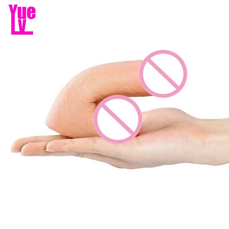 YUELV 5,5*1,3 дюймов гибкий мягкий маленький реалистичный фаллоимитатор для женщин новички искусственный пенис Женская мастурбация секс-игрушк...