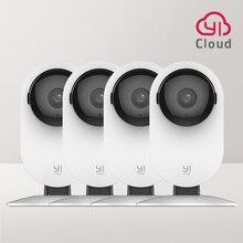 4 шт. домашняя камера YI, 1080p Wi Fi IP система видеонаблюдения с ночным видением, видеоняня на iOS, Android App
