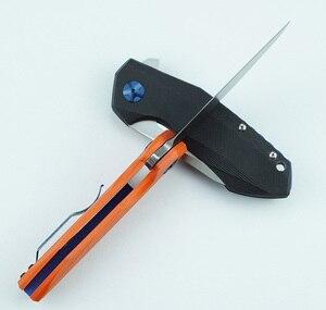 Image 5 - Lemifshe zt 0456 tático faca dobrável g10 lidar com d2 lâmina rolamento flipper caça bolso faca de acampamento sobrevivência ferramentas edc