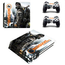 Tom Clancy's The Division 2 Style Skin Sticker for PS4 Pro Console And Controllers Decal Vinyl Skins Cover YSP4P-3268