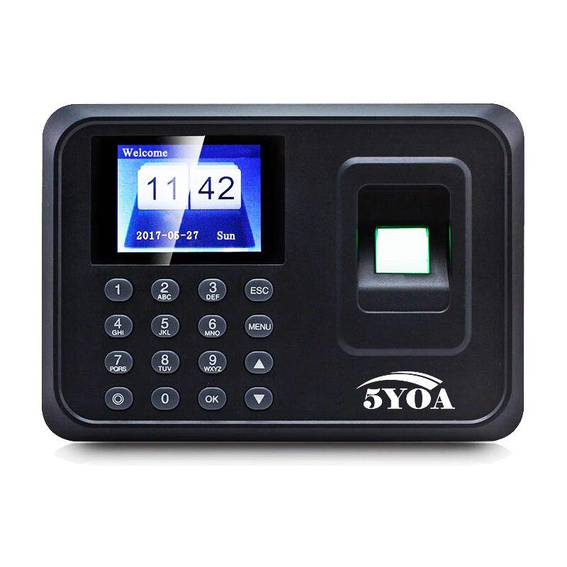 A01 biometric fingerprint punch usb time clock office attendance system recorder timing employee machine reader Spanish Spain En