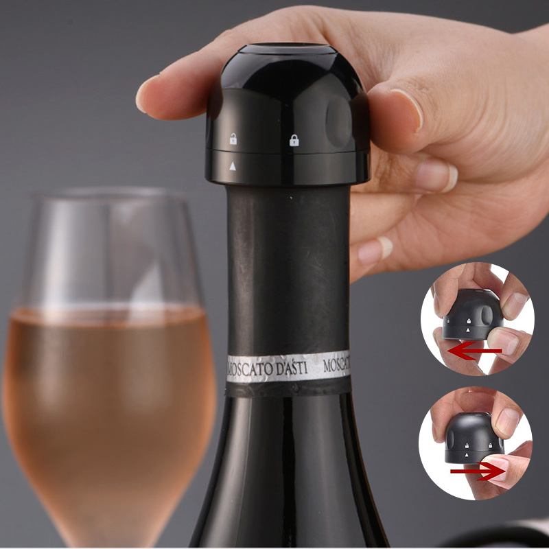 3ps próżniowa butelka czerwonego wina korek silikonowy uszczelniony butelka do szampana korek próżniowy zachowaj świeżość zatyczka do wina akcesoria barowe