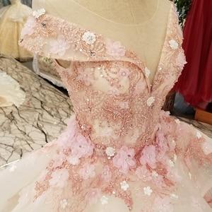 Image 5 - LS6669 цвет кружева 3d цветы вечернее платье колпачок рукав o образным вырезом зашнуровать вверх платье для бальное платье для прекрасной китайской оптовой продажи