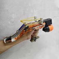 Tirachinas de tiro de pez integrado, rueda de pesca con puntería láser infrarroja, juego de tirachinas multifuncional para tiro de peces al aire libre