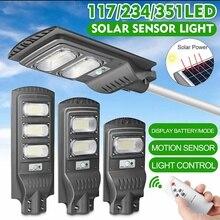 120W/240W/360W LED Solar Lampe Wall Street Licht Super Helle Radar PIR Motion Sensor sicherheit Lampe Fernbedienung für Outdoor