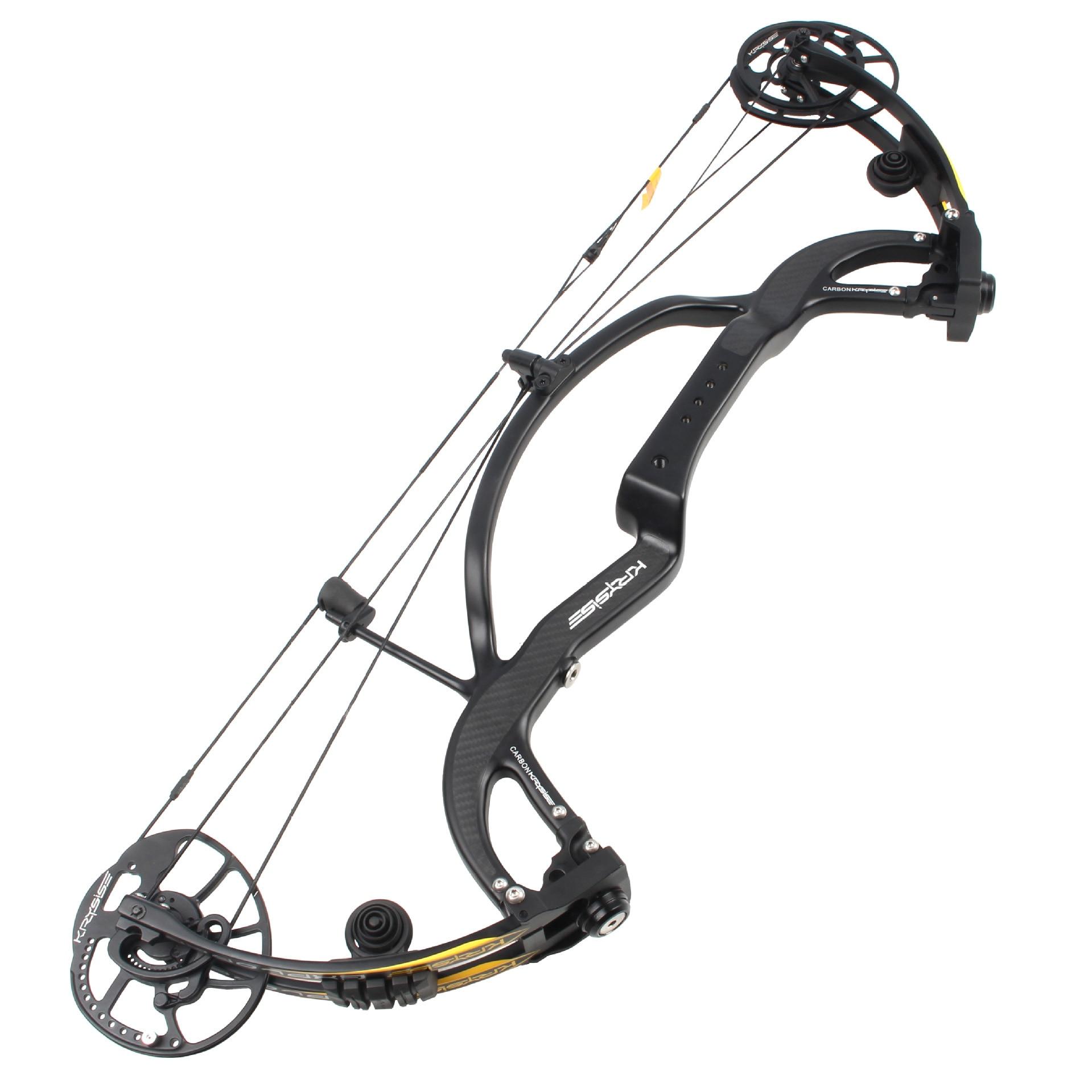Linkboy tir à l'arc pur Fiber de carbone composé arc prédateur 2 génération 50-65lbs essieu à essieu 32 pouces pour le tir de chasse