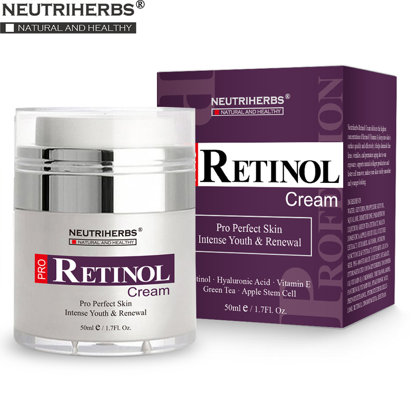 Retinol Moisturizer Cream For Face And Eye Area With Hyaluronic Acid, Vitamin E - Best Day And Night Anti Aging Formula 50g/pc