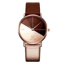 Frauen Uhren Mode Leder Armbanduhr Vintage Damen Uhr Unregelmäßigen Uhr Mujer Bajan Kol Saati Montre Feminino 533