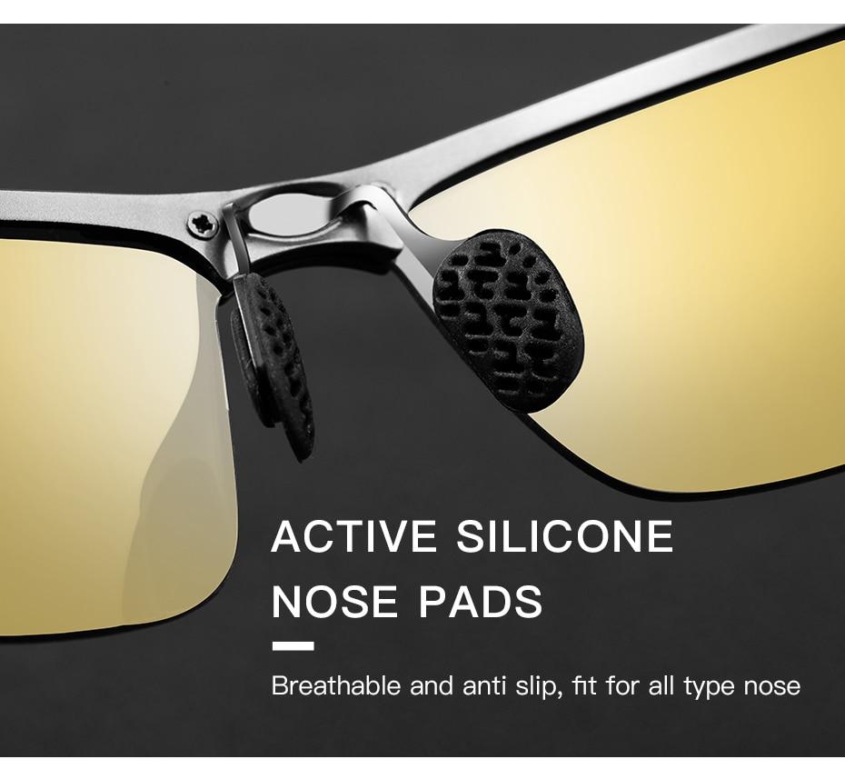 Caponi visão noturna óculos de sol polarizados