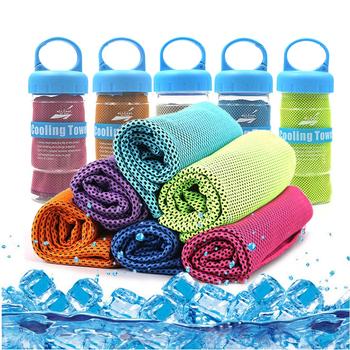 Tkanina z mikrofibry ręcznik sportowy Ice Face szybki błyskawiczny ręcznik chłodzący letni szybkoschnący ręcznik plażowy do fitnessu joga ręczniki wędkarskie tanie i dobre opinie Plac Prostokąt Sprężone Quick-dry Można prać w pralce 15 s-20 s Cooling Sports Towel