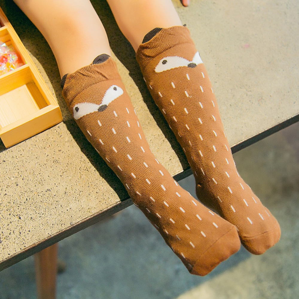 Newborn-Toddler-knee-high-sock-Baby-Boy-bebe-Girl-fox-Socks-anti-slip-cotton-Cartoon-Animal (3)