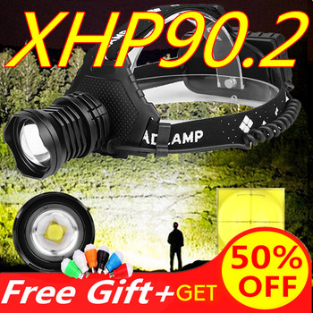 5 led headlight high power headlamp rechargeable head light 12000 lumens led xm l t6 4xpe head torch 18650 battery charger New 90000lm xhp90.2 led head lamp xhp90 high power headlamp torch usb 18650 rechargeable battery headlight  zoom best head light