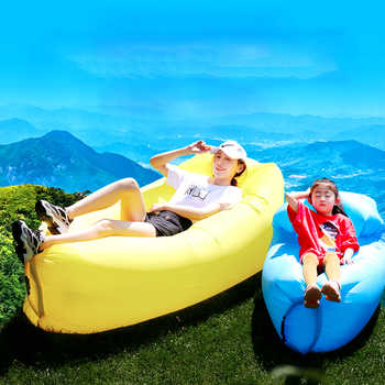 Outdoor Camping Inflatable Sofa Portable Ultralight Beach Sleeping Bag Air Bed Inflatable Chair Recliner Lazy Bag Beach Sofa