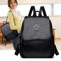 backpacks women 2019 fashion genuine leather backpacks for women big capacity school bags knapsacks