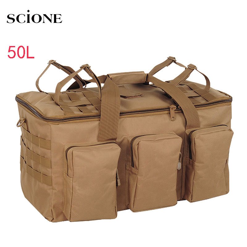 50L Outdoor Military Bag Tactical Backpack Large Capacity Camping Bags Men's Hiking Travel Mountaineering Army Luggage Bag X132A