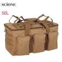 Mochila táctica militar de 50L para hombre, bolsa de equipaje de gran capacidad para acampar, senderismo, viaje, montañismo, ejército, X132A