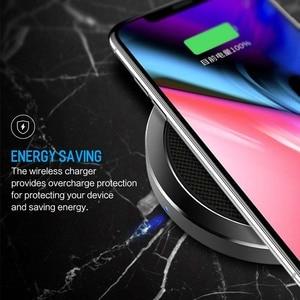 Image 5 - ROCK 10W W4 2A Qi Caricatore Senza Fili per IPhone X 8 8 Più Veloce di Ricarica Caricabatterie per il Samsung s9 S8 S7 беспроводная зарядка