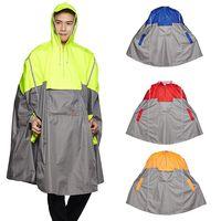 QIAN Mit Kapuze Regen Poncho Fahrrad Wasserdichte Regenmäntel Radfahren Jacke für Männer Frauen Erwachsene Regen Abdeckung Angeln Klettern
