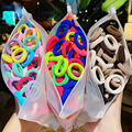Scrunchie Headband Ponytail-Holder Elastic Small Girls Kids Children Nylon Colorful 50/100pcs/set