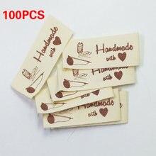 100 шт с буквенным принтом этикетка для одежды ручной работы