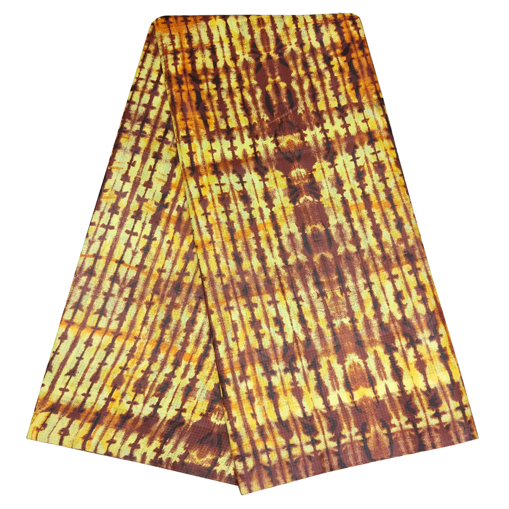 2019 New African Fabric Plaid Tie Dyed Ankala High Quality Fabric  5Yards\lot
