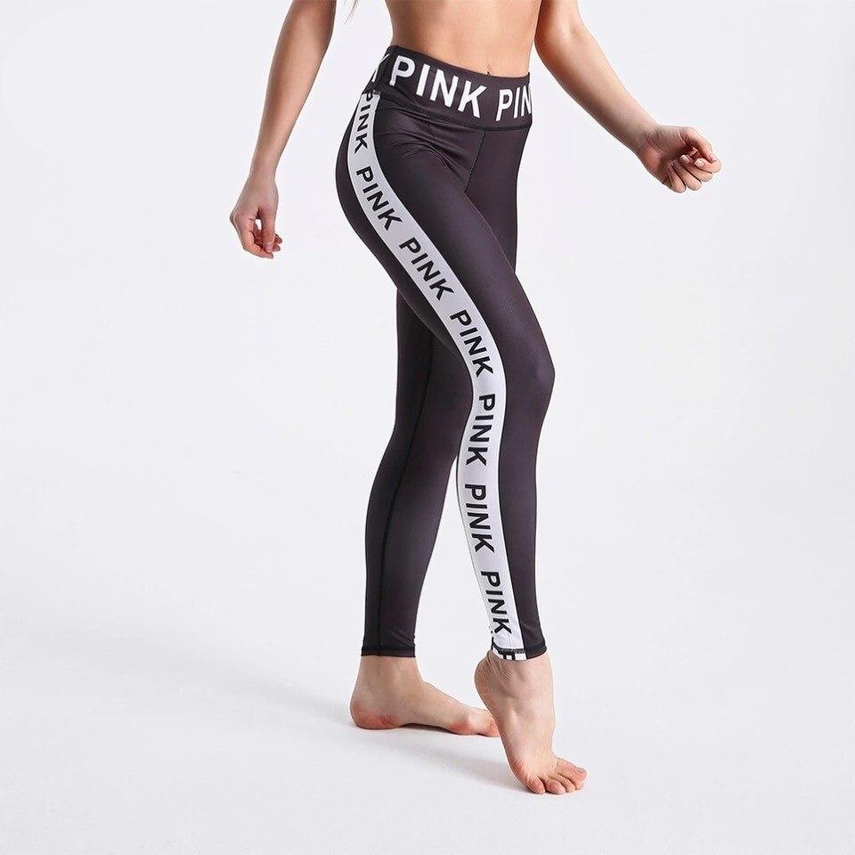 Fashion Women Black Leggings 3D Letters Printed Pants Outdoor Sports Fitness Leggings Plus Size Sports Leggings Jeggings O5A044 11