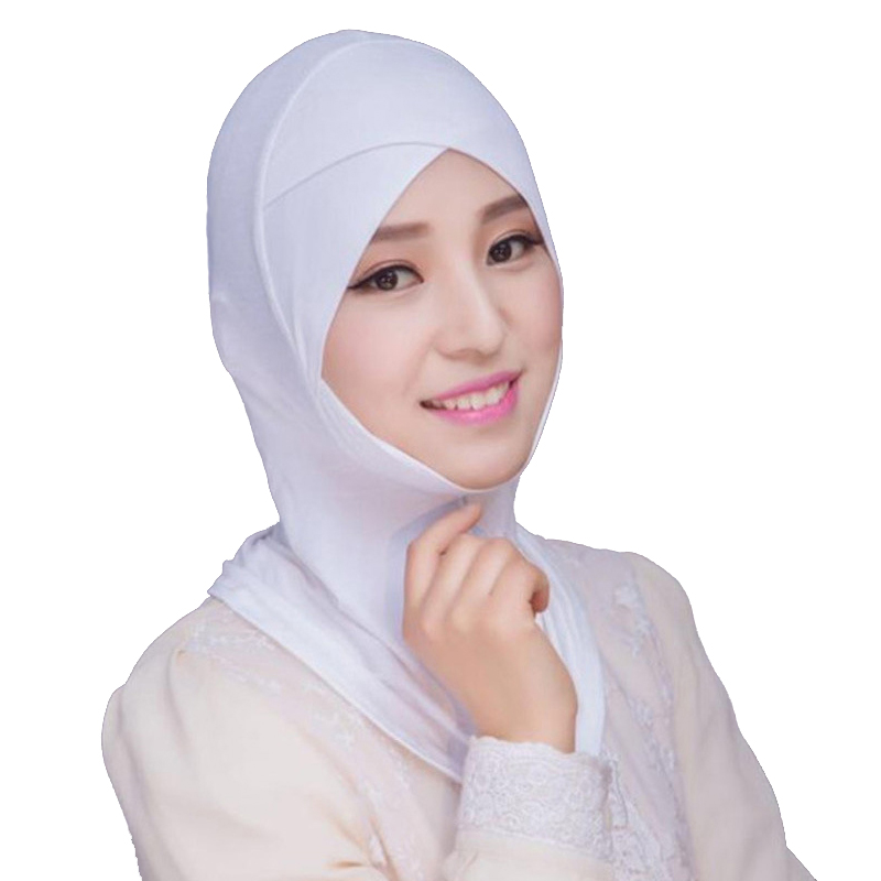 2020 Muslim Stretch Turban Cap Full Cover Inner Hijab Caps Islamic Underscarf Bonnet Solid Modal Under Scarf Caps Turbante Mujer