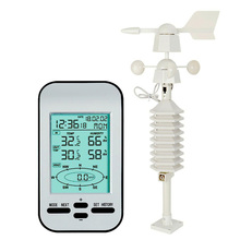 Digital Direction Hanging Forecast Indoor Temperature Sensor Weather Station Wireless Wind Speed LCD Display Humidity Records цены