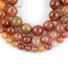 Natural 3A Red Jaspers Stone Round Loose Beads For Jewelry Making 6-10mm Spacer Fit Diy Bracelets Necklace Accessory