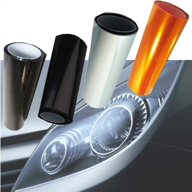 2019 TPU Film de Protection pour phares feux arrière fumée antibrouillard Film voiture lumière phare film feuille voiture autocollant lampe sombre stickers voiture