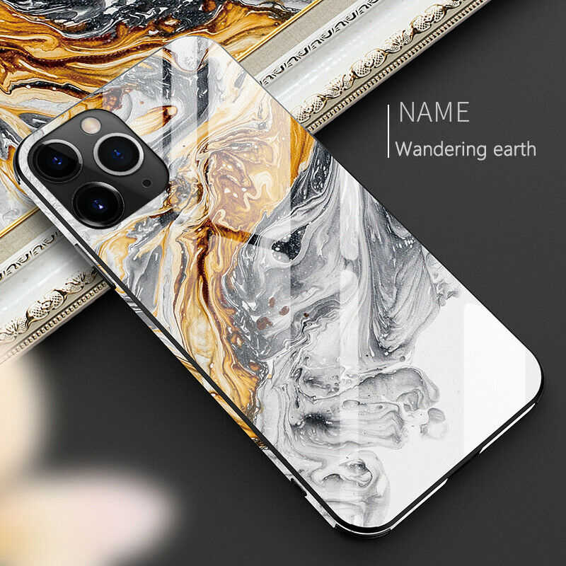 Luxury Full Protective Phone Case For iphone 11 Pro Max X XR XS Max 8 7 6 6s plus Tempered Glass TPU Hard Marble Back Cover
