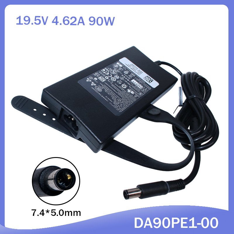 90W Laptop AC Charger Power Adapter For Dell Latitude 14 7480 P73G001 E5430 Da90pe1-00 9400 9300 3520 3521 1557 N5050Power Ada