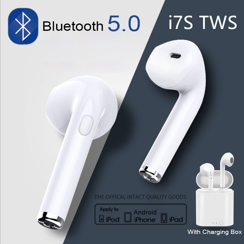 Original i7s TWS Bluetooth 5.0 Earphone Wireless Headphones Earbuds Sport Handsfree Headset With Charging Box For iPhone Android 1