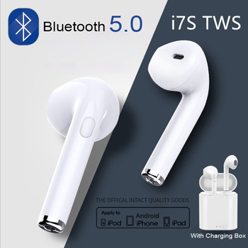 Original Apple AirPods i7s TWS Bluetooth 5,0 auriculares inalámbricos auriculares deportivos manos libres auriculares con caja de carga para iPhone Android