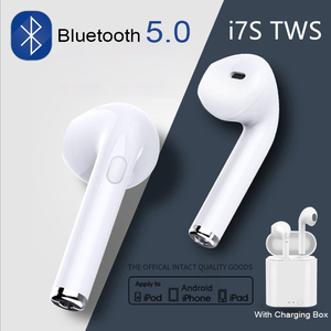 Original i7s TWS Bluetooth 5.0 Earphone Wireless Headphones Earbuds Sport Handsfree Headset With Charging Box For iPhone Android