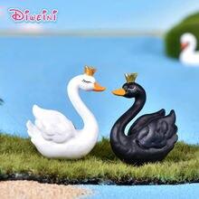 2 шт Новый Лебедь lover фигурку мультфильм животное кукольный
