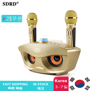 Image 1 - SD306 Dual Bluetooth Speaker With 2 Wireless Microphones Outdoor Family KTV Stereo Mic Big Sound 20W SDRD Sd 306 Speaker Set
