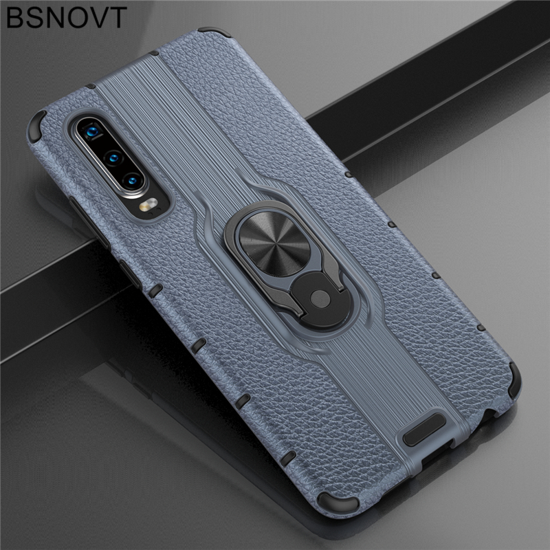 For Huawei Honor 20 Case For Honor 20 TPU PC Phone Finger Holder Cover For Huawei P30 Case For Huawei Honor 20 Pro P30 BSNOVT in Fitted Cases from Cellphones Telecommunications