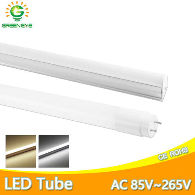 Ampoule Tube T8 LED néon, 10w 60cm, ac 110/220v, Tube Fluorescent à LED, lampe à LED, laiteux, blanc chaud, rouge, bleu, rose, SMD2835