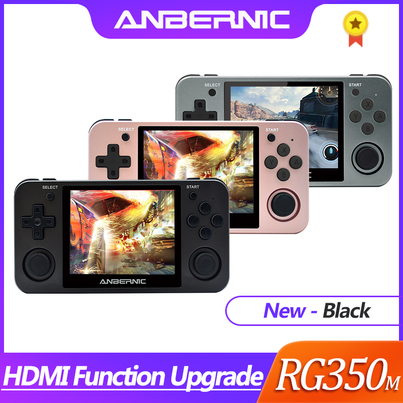 HDMI ANBERNIC Retro game RG350 Video games Upgrade game console ps1 game 64bit opendingux 3 5 inch 2500  games RG350m Child gift