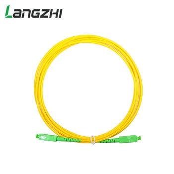 10pcs/bag Sc Apc 3m Simplex Mode Fiber Optic Patch Cord Cable Sc Apc 2.0mm Or 3.0mm Ftth Fiber Optic Jumper Cable sommer cable sc goblin white