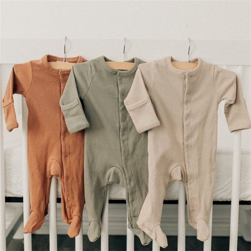 0-6M Newborn Infant Baby Boy Girl Autumn Clothes Romper Long Sleeve Jumpsuit Outfits Clothes