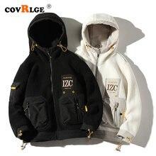 Covrlge модная мужская куртка с плюшевым капюшоном индивидуальным